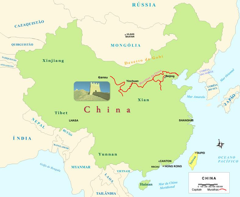 A grande magn fica imponente e milenar muralha da china for A muralha da china vista da lua